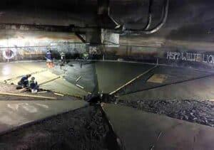 Chemical resistant concrete